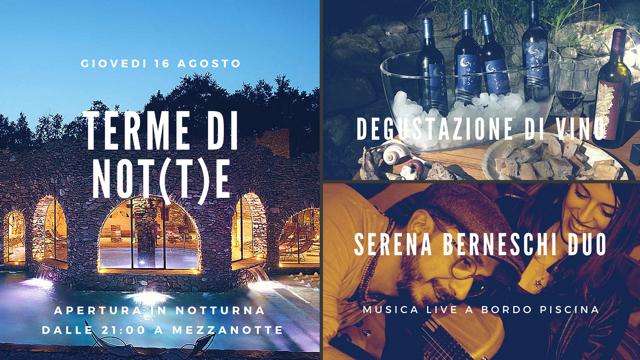 Terme di Notte 16 agosto - Terme di Sassetta